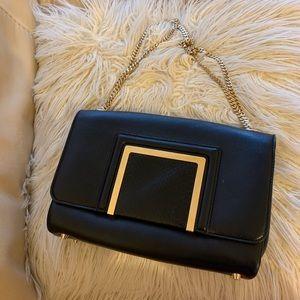 Jimmy Choo Alba Snakeskin Leather Shoulder Bag